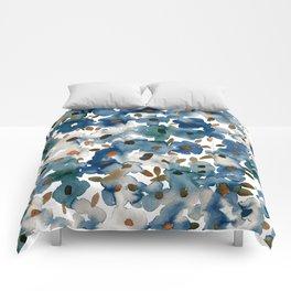 Georgia Floral Blue Comforters