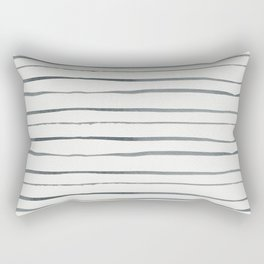 Hand painted white gray watercolor striped pattern Rectangular Pillow