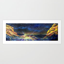 Concert at Red Rocks Painting  Art Print