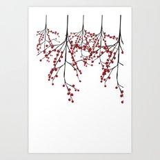 Baies rouges Art Print