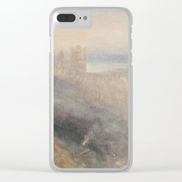 "J.M.W. Turner ""Moon over Lausanne"" Clear iPhone Case"