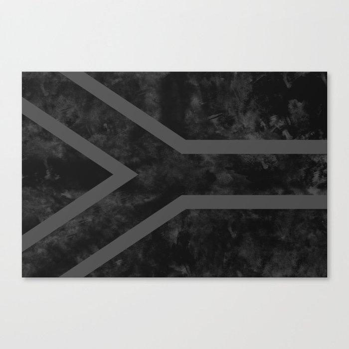 Black South Africa Flag Canvas Print