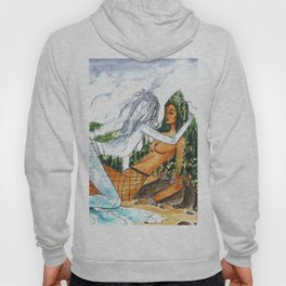 PNW Fishnets - Earth and Sky Goddess Kiss Painting Hoody