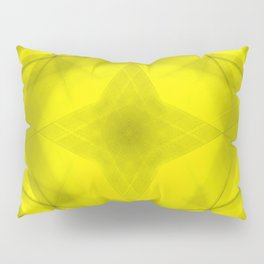 Scalding triangular strokes of intersecting sharp lines with yellow triangles and a star. Pillow Sham