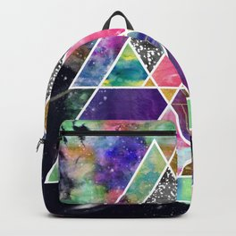 Cool abstract geometric triangles watercolor Backpack