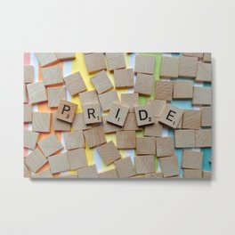 LGBT Pride Tiles Metal Print