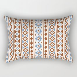 Aztec Essence Pattern II Rust Blue Cream Rectangular Pillow