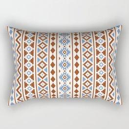 Aztec Essence Pattern II Rust Blue Cream Rectangular Pillow
