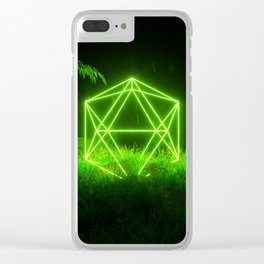 Icosahedron Hare Clear iPhone Case