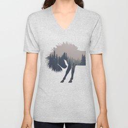 Woodland Horse Unisex V-Neck