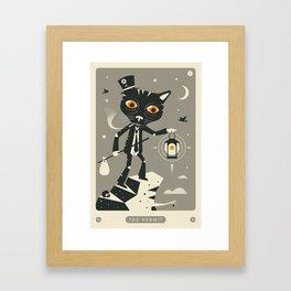 TAROT CARD CAT: THE HERMIT Framed Art Print