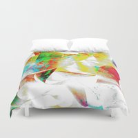 silver Duvet Covers featuring Silver by Yilan