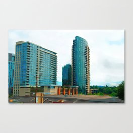 Portland city building Canvas Print