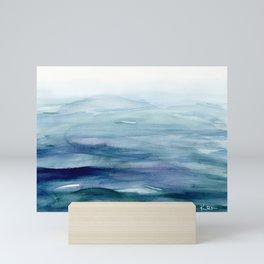 Water Study 7 in Gouache Mini Art Print