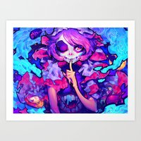 barachan Art Prints featuring wraith by barachan