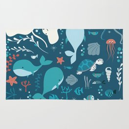 Sea creatures 004 Rug