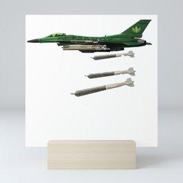420 bomber Mini Art Print