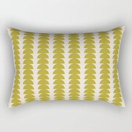 Maude Pattern - Moss Green Rectangular Pillow