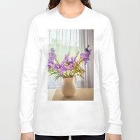 iris Long Sleeve T-shirts featuring Iris by Svetlana Korneliuk