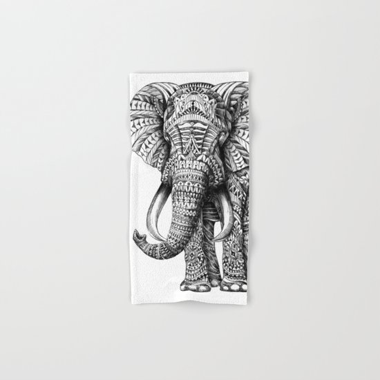Ornate Elephant Hand & Bath Towel