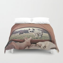 NEVER STOP EXPLORING - BACKCOUNTRY CAMPING Duvet Cover