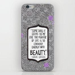 Energy into Beauty iPhone Skin