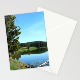 Peaceful Morning At Yellowstone River Stationery Cards