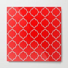 Moroccan Red Metal Print