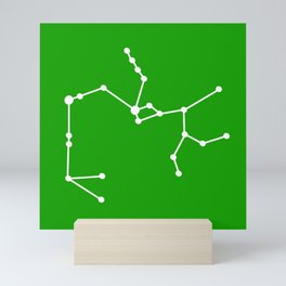 Sagittarius (White & Green) Mini Art Print