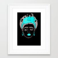 frida khalo Framed Art Prints featuring Sô Frida by Di Stehling