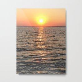 Baesic Orange Sherbet Sunset Metal Print
