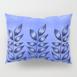 Blue Plant With Pointy Leaves Pillow Sham