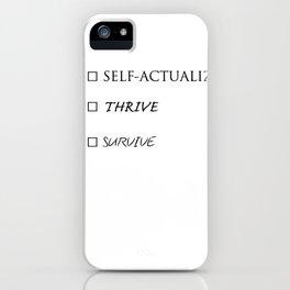 Survive, Thrive, Self-Actualize Checklist 01 - coffee mug iPhone Case