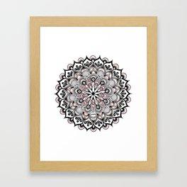 Birds Nest Mandala Framed Art Print