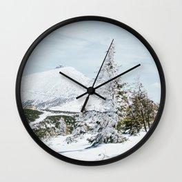 Sniezka Winter Mountains Wall Clock