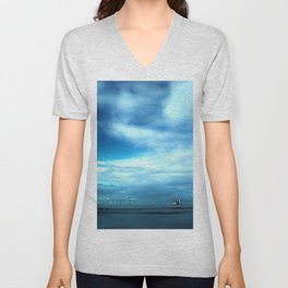 Off to Sea Unisex V-Neck