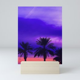 Palm Sunset - 6 Mini Art Print