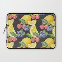 Fruits on Chalkboard Laptop Sleeve