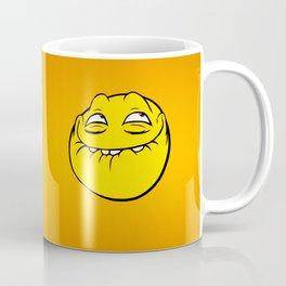 Meme Face Smiley Emoticon Yelow Funny Head Troll Coffee Mug