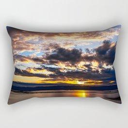 Autumn Urban Sunset Rectangular Pillow