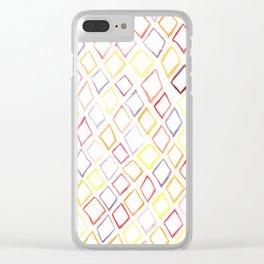Technicolor Diamonds in the Rough Clear iPhone Case