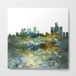 Detroit Skyline Michigan Metal Print