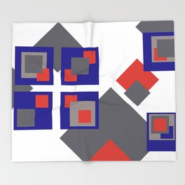 Grafik Rectangles III Throw Blanket