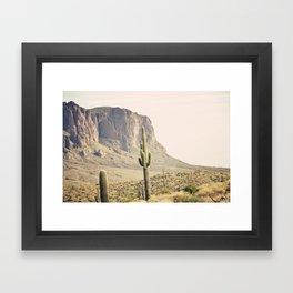 Superstitious Mountain Framed Art Print
