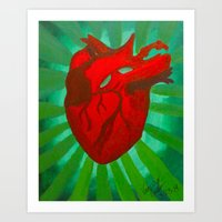 anatomical heart Art Prints featuring Anatomical Heart by Vanessa Cirillo