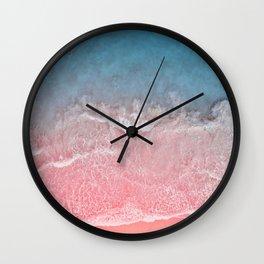 Bahamas pink blue Wall Clock