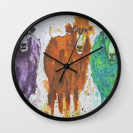 Three Ewes Wall Clock