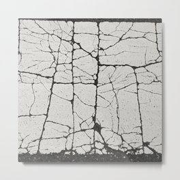 Cracked Crossing Metal Print
