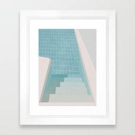 Swimming Pool Summer Framed Art Print