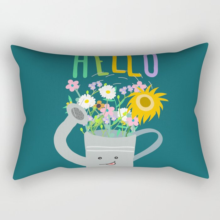 Happy Day- Watering Can Rectangular Pillow